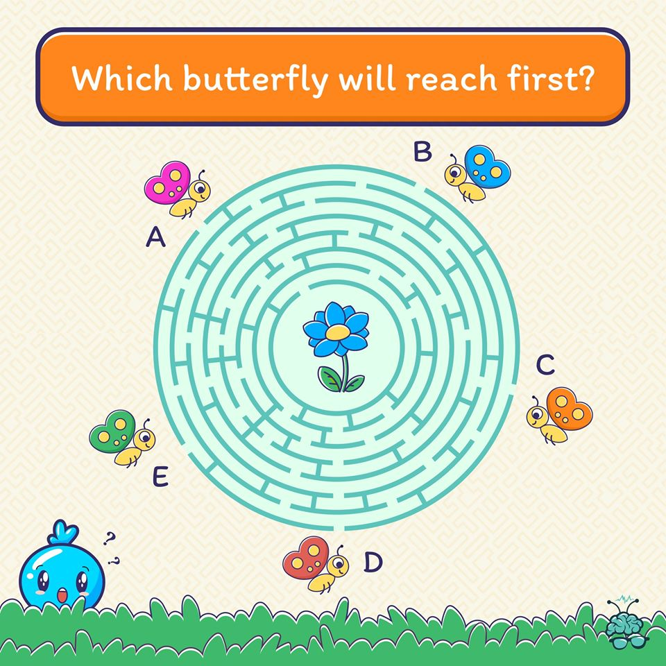 These five butterflies are trying to reach the flower. Can you guess which one would reach there first? Share your answer in the comments.