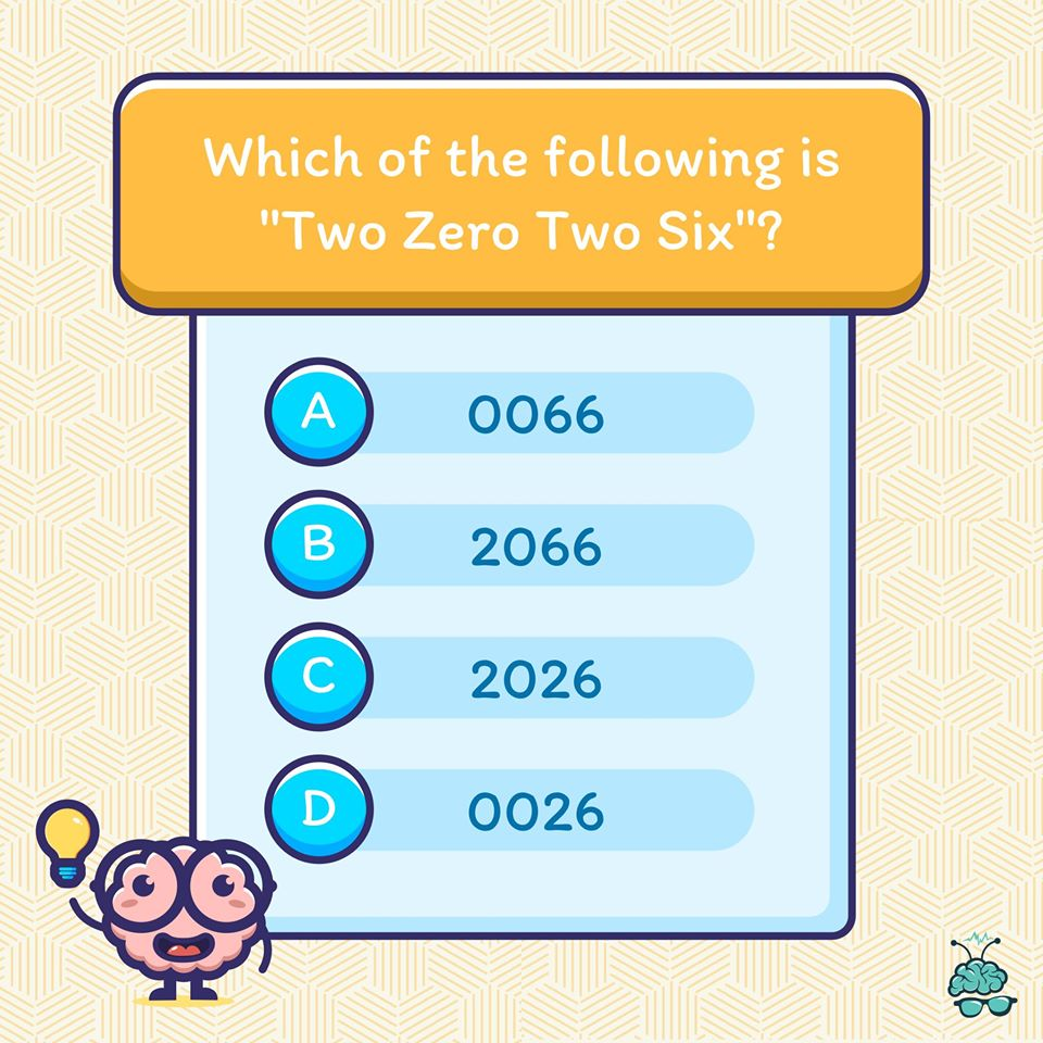 Read the options carefully. Share your answer in the comments if you got it.